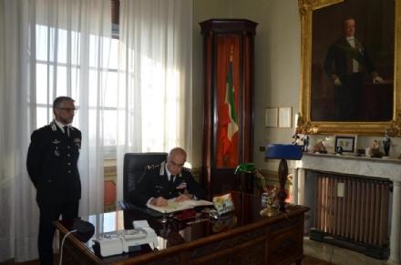 MONCALIERI - Il comandante generale dei carabinieri in visita al Castello