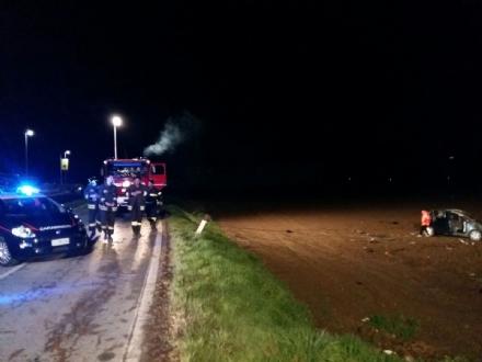 PANCALIERI - Grave incidente sulla provinciale per Vigone