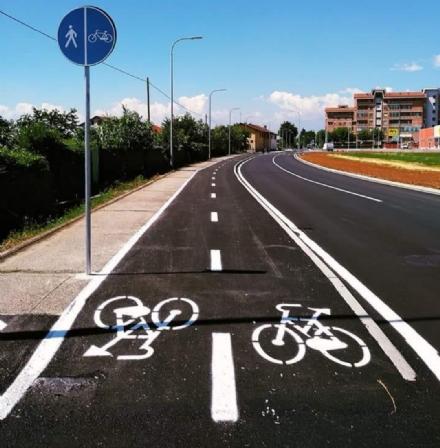 PIOSSASCO - Potenziata la rete di piste ciclabili in città