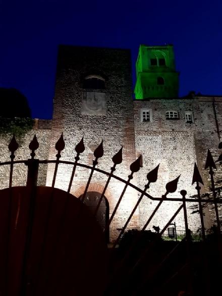 RIVALTA - Oggi è la giornata mondiale dellinfermiere e la torre del castello si colora di verde
