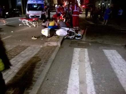 NICHELINO - Grave incidente in via Cuneo, lautore ubriaco rischia il linciaggio