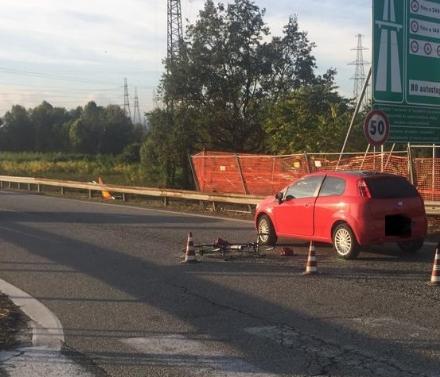 NICHELINO - Ciclista investito allimbocco della tangenziale: è grave