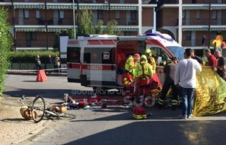 CARMAGNOLA - Camion investe una ciclista: trasportata durgenza al Cto è gravissima - FOTO