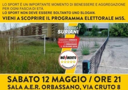 ORBASSANO - Scontro sul degrado dei campi sportivi tra Forza Italia e Cinque Stelle