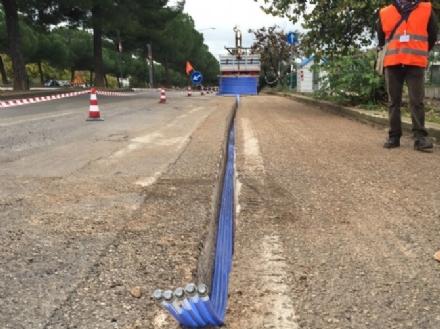 ORBASSANO - Via ai lavori si ripristino del manto stradale per la fibra ottica