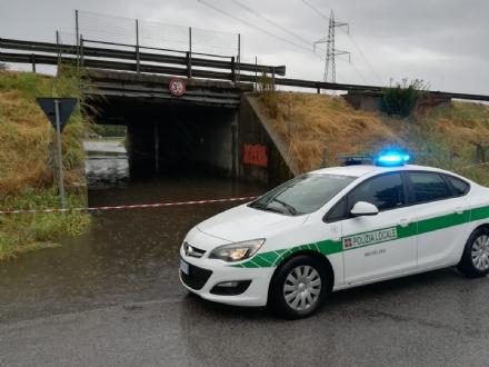 NICHELINO - Il maltempo allaga il sottopasso di via Brescia e rovina gli alberi al Boschetto