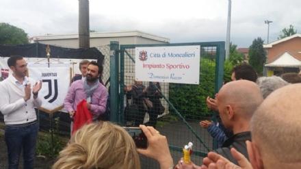MONCALIERI - Il campo sportivo del Vignotto intitolato a una vittima dellHeysel