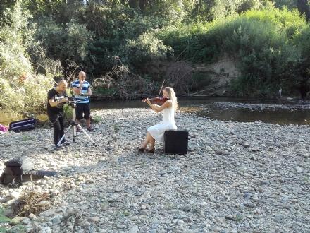 NICHELINO - Il torrente Sangone teatro per un videoclip