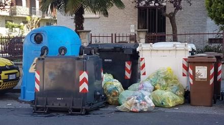 MONCALIERI - Cade il bidone della spazzatura e nessuno lo ripristina