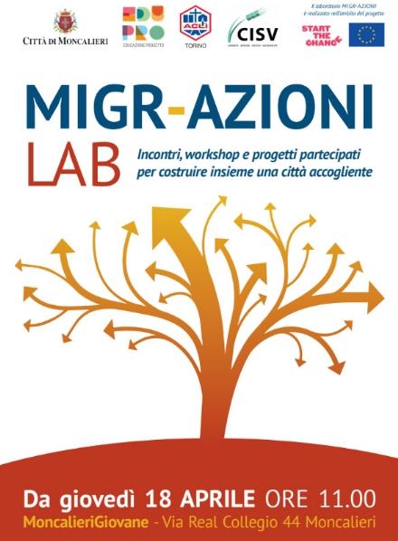 MONCALIERI - Parte il laboratorio formativo Migr-Azioni