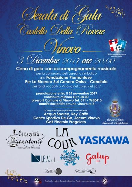 VINOVO - Serata di Gala per raccolta fondi per la cura del Cancro