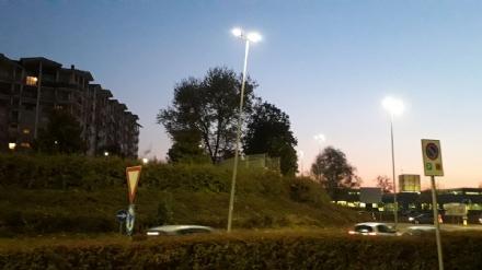 NICHELINO - Dopo lincidente, il palo resta pericolante