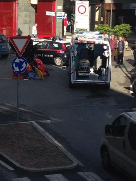 ORBASSANO - Incidente in via Roma: ciclista in ospedale