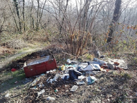 MONCALIERI - Invasione di rifiuti in collina: il bosco come una discarica