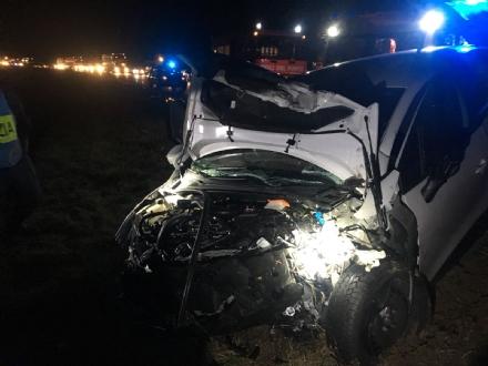 ORBASSANO - Maxi tamponamento sulla tangenziale sud: tre feriti