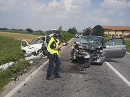 ORBASSANO - Incidente mortale sulla provinciale 143: vittima una donna di Vinovo - FOTO