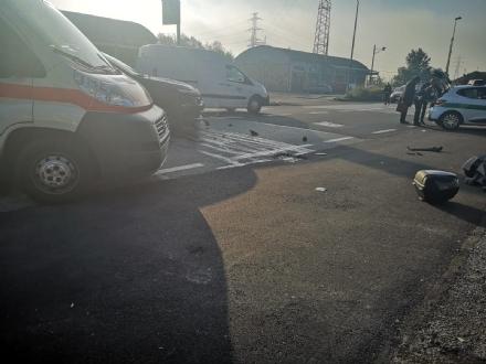 MONCALIERI - Incidente su strada Carignano: un giovane ferito