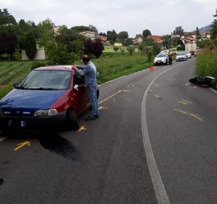 MONCALIERI - Incidente in strada Pecetto: ferito un motociclista