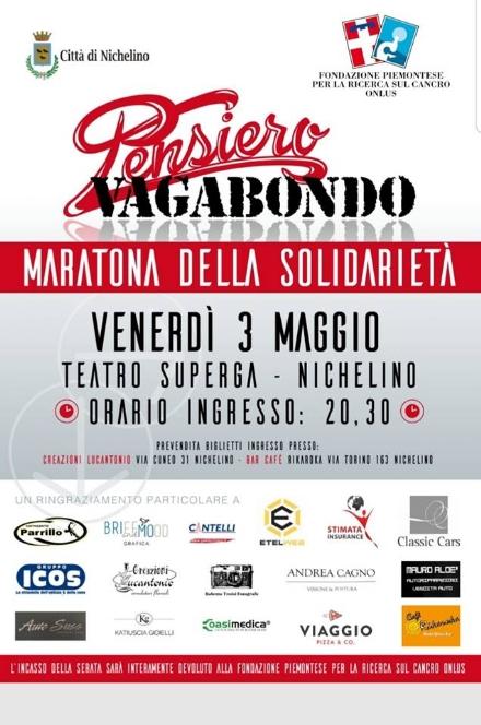NICHELINO - Maratona musicale per la Fondazione per la Ricerca del Cancro
