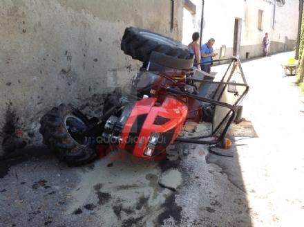 MONCALIERI - Si ribalta col trattore: moncalierese ferito a Orio Canavese - VIDEO