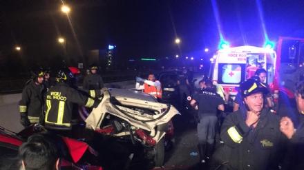 ORBASSANO - Incidente nella tarda serata al Sito, tangenziale chiusa e due feriti