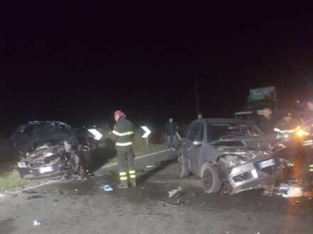 CARIGNANO - Brutto incidente sulla provinciale per Lombriasco: due feriti