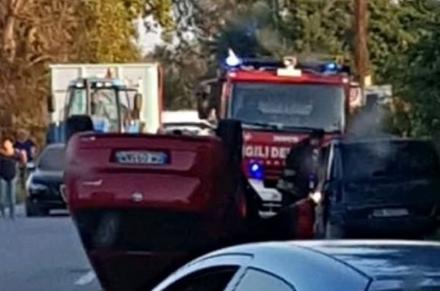 CARIGNANO - Schianto sulla provinciale 20, due feriti in ospedale