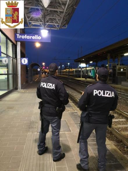 TROFARELLO-CARMAGNOLA-MONCALIERI - La polizia aumenta i controlli nelle stazioni dopo gli atti vandalici