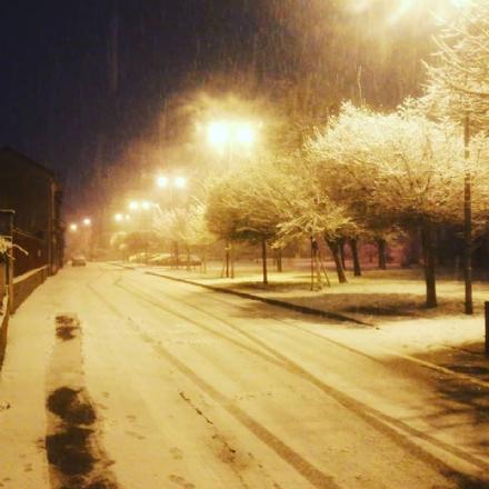 CINTURA - Nevicata durante la notte, incidente in strada Mongina a Moncalieri