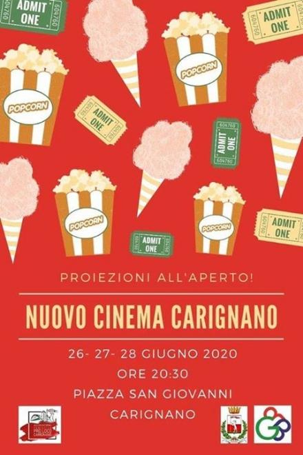 CARIGNANO - Tre giorni di cinema allaperto in piazza San Giovanni
