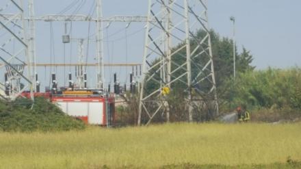 ORBASSANO - Il decespugliatore va in corto circuito e si incendia il campo agricolo