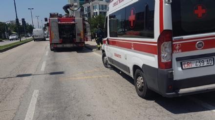BEINASCO - Incendio in casa: donna incinta resta intossicata. Trasportata durgenza in ospedale