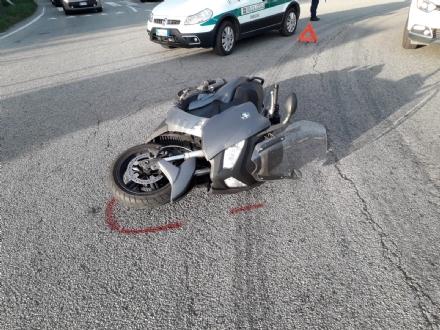 ORBASSANO - Incidente in via Frejus: ferito uomo sul motorino