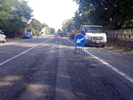 RIVALTA - Lavori in corso in via Mattei e nella zona di via Giaveno-via Nenni