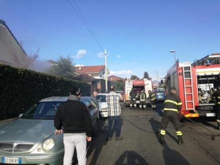BRUINO - Paura per un principio di incendio in una villetta