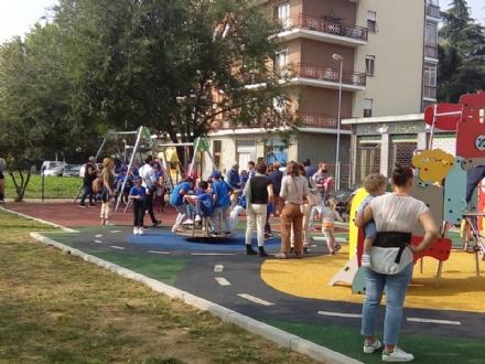 MONCALIERI - Inaugurato il nuovo giardino pubblico in via Saluzzo