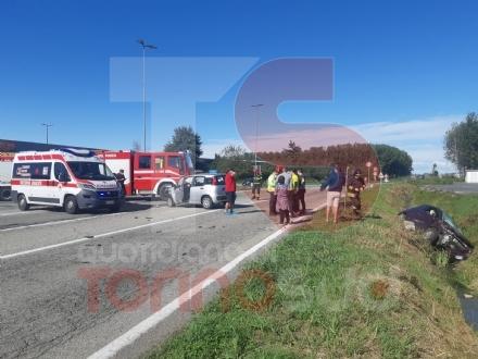 PIOBESI - Brutto incidente sulla provinciale 145: tre feriti in ospedale