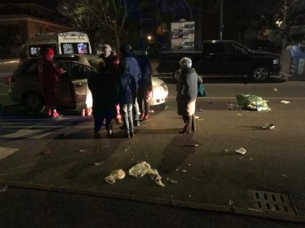 NICHELINO - Pedone investito sulle strisce in via Del Pascolo, trasportato in ospedale