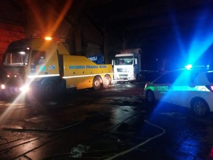 NICHELINO - Il tir rubato allInterporto ritrovato nella ex fabbrica Liri