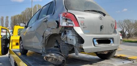 MONCALIERI - Incidente sulla sopraelevata: due feriti al Santa Croce