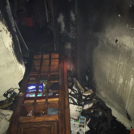 CARIGNANO - Brucia un garage nella notte, tre intossicati tra cui due bambini