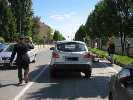 LA LOGGIA - Ricoverato in prognosi riservata lanziano ciclista loggese investito in strada Carignano