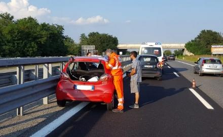 CANDIOLO-VOLVERA - Incidente stradale sul raccordo: un ferito