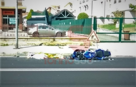MONCALIERI - Incidente mortale: giovane motociclista perde la vita in strada Carignano - FOTO