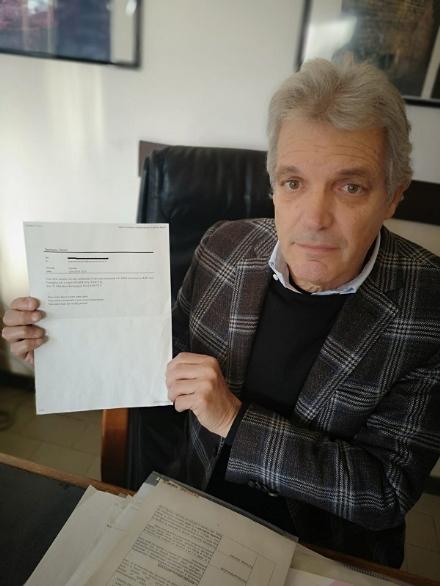 RIVALTA - Mail razzista al sindaco di Rivalta: Inqualificabile, valuto la denuncia