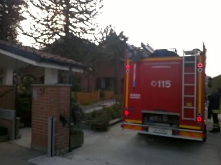 CARIGNANO - Paura per un incendio in un appartamento di via Gennero