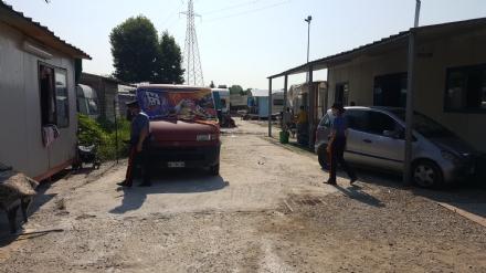 BEINASCO  - Nuovo blitz di carabinieri e vigili nel campo nomadi di Borgaretto: denunciata una cittadina bosniaca