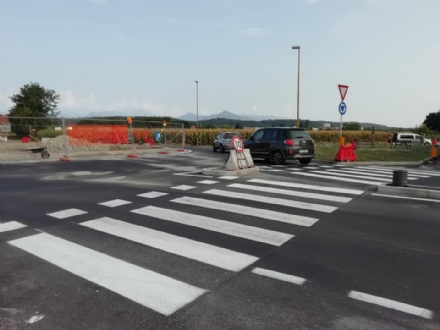 RIVALTA - Riaperta al traffico la rotatoria Prabernasca