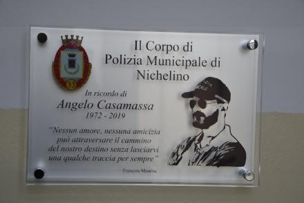 NICHELINO - Una targa per ricordare Angelo Casamassa, vigile prematuramente scomparso