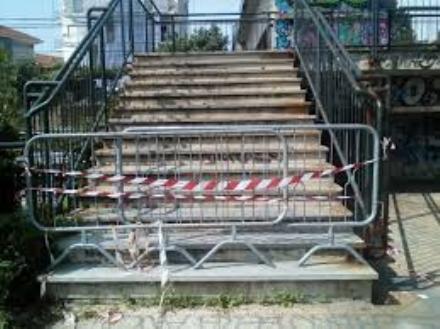 MONCALIERI - Iniziati i lavori sulla passerella di via Robaldo